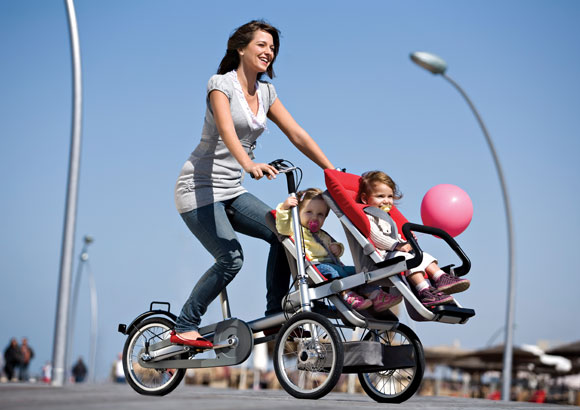 Rower i wózek dziecięcy w jednym - wózek Taga