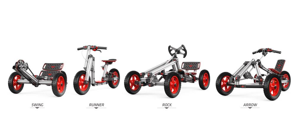 Składane pojazdy dla dzieci rower hulajnoga gokart