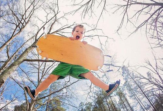 Huśtafka surfowanie w powietrzu