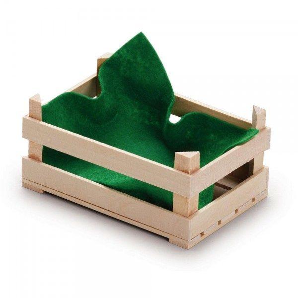 Drewniana skrzynka do zabawy w sklep