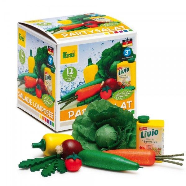 Zestaw drewnianych warzyw