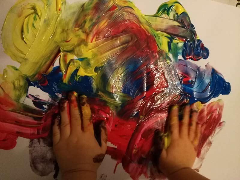 Malowanie rękami