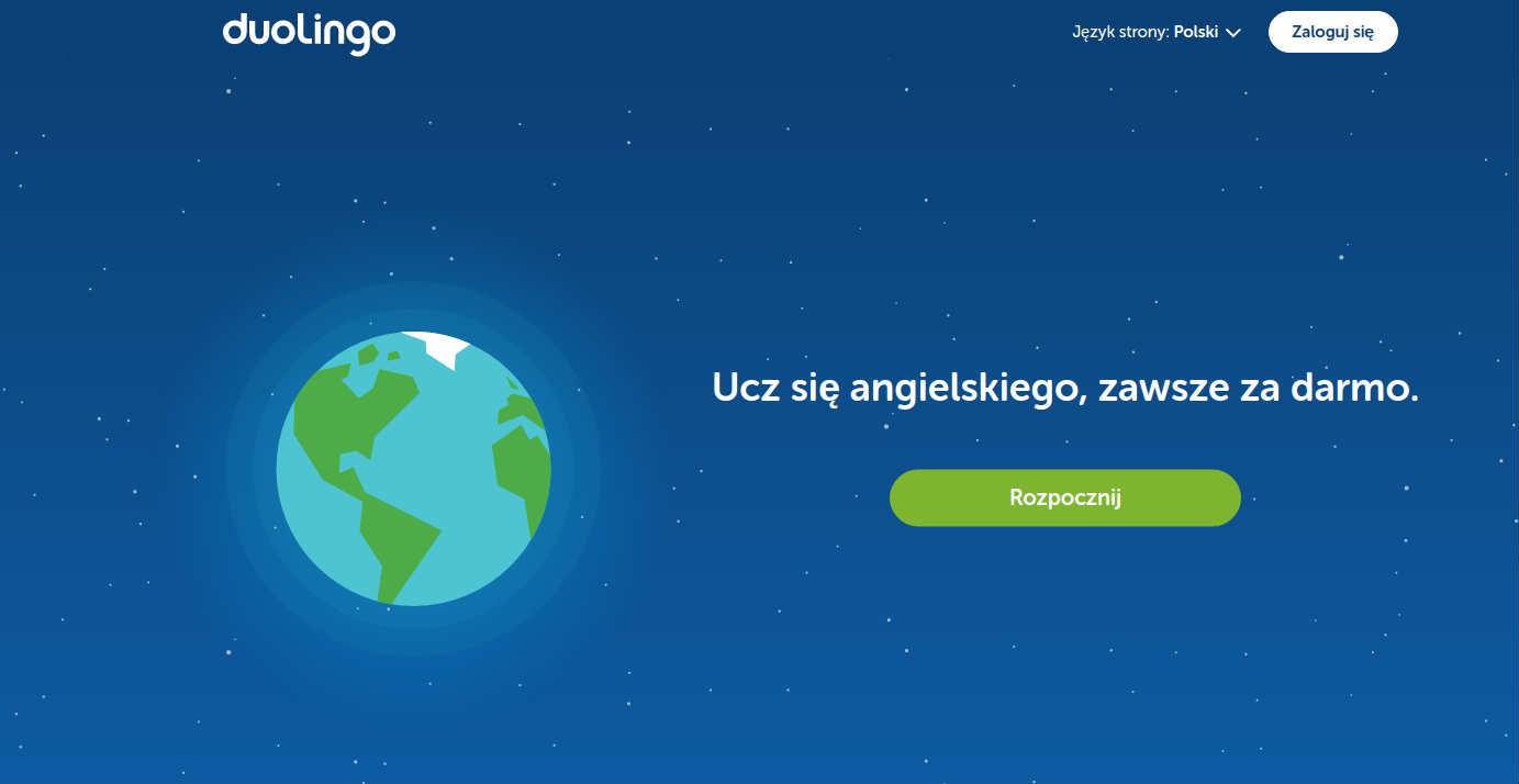 duolingo serwis do nauki języka dla dzieci