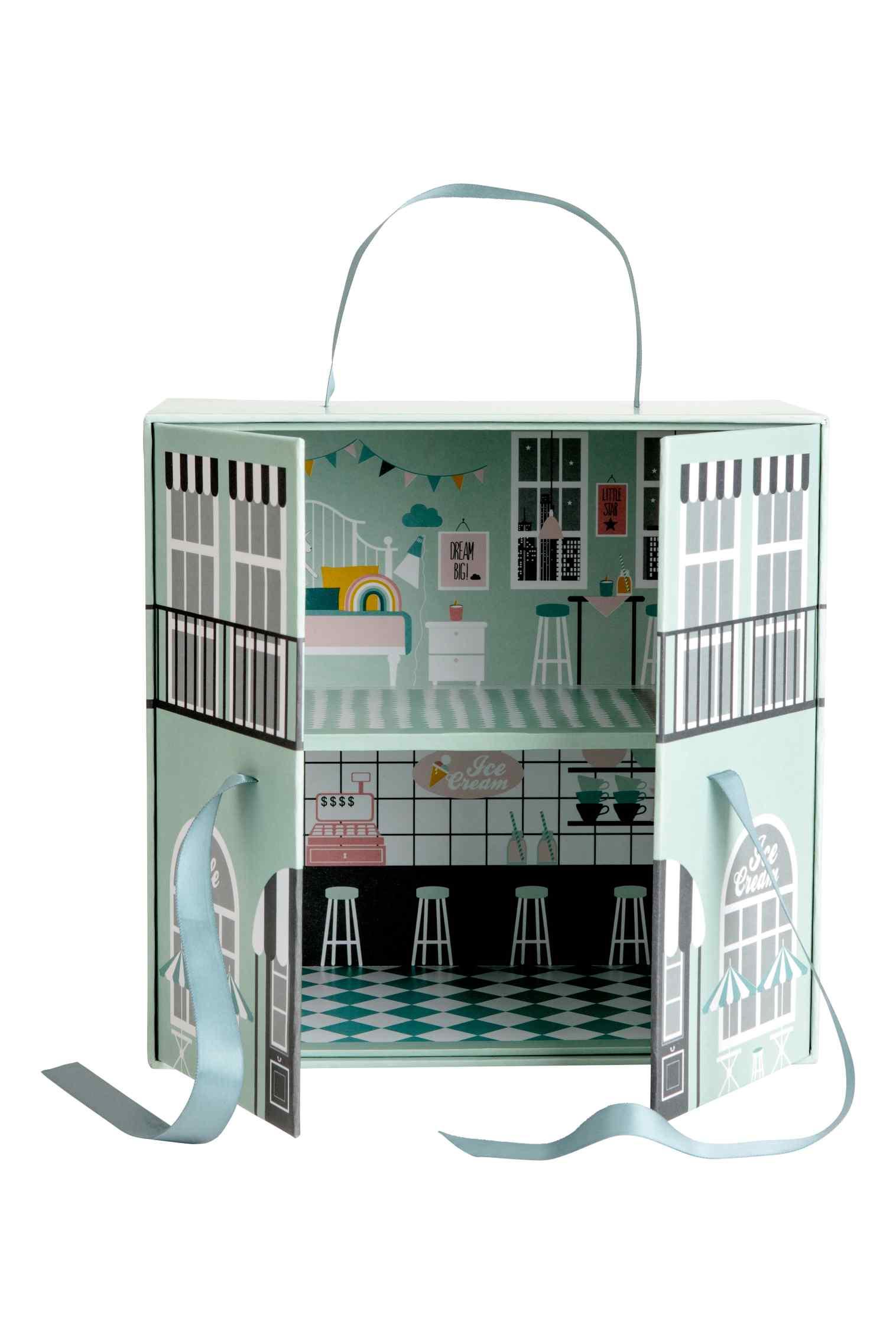 papierowy domek dla lalek