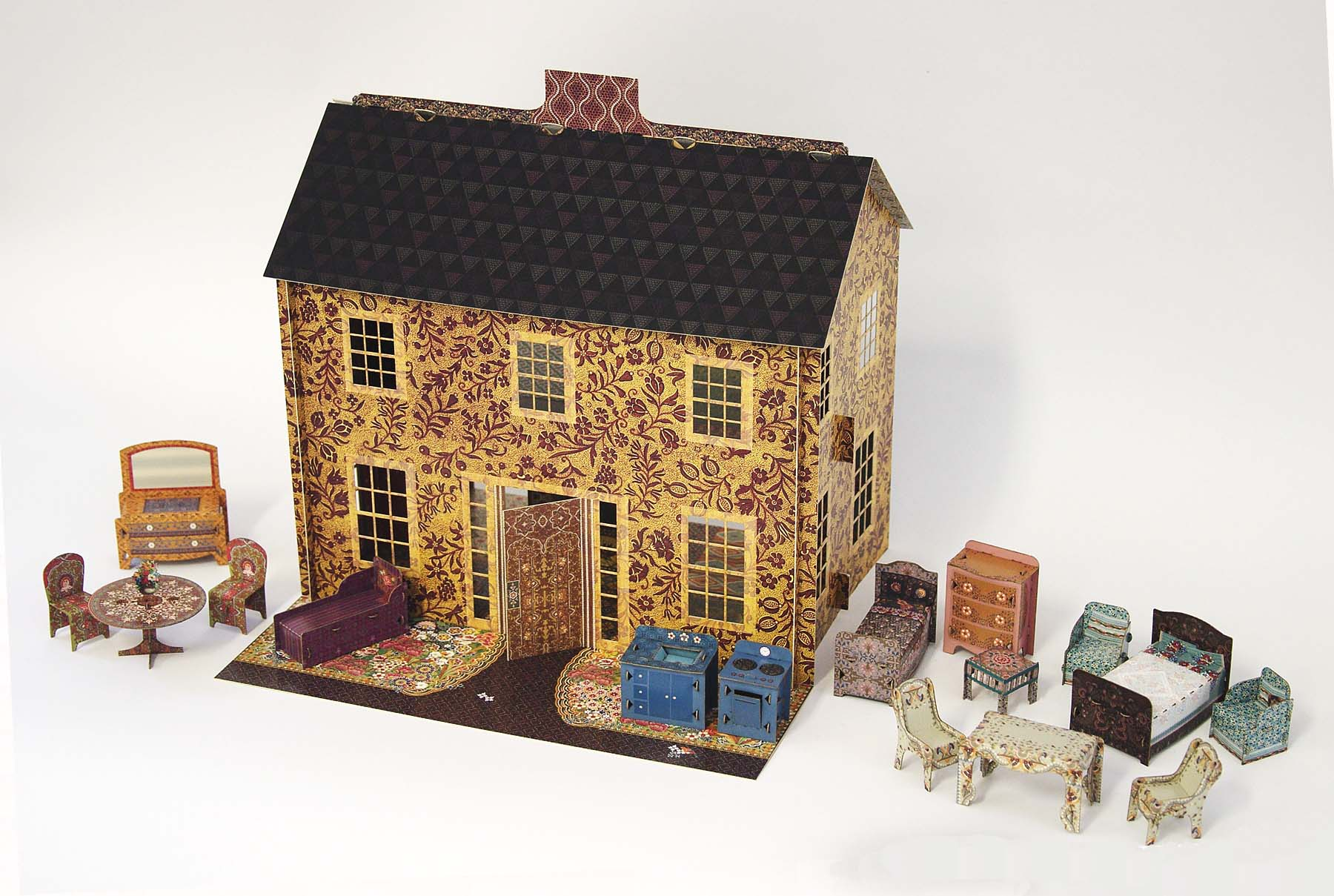 domek dla lalek z papieru