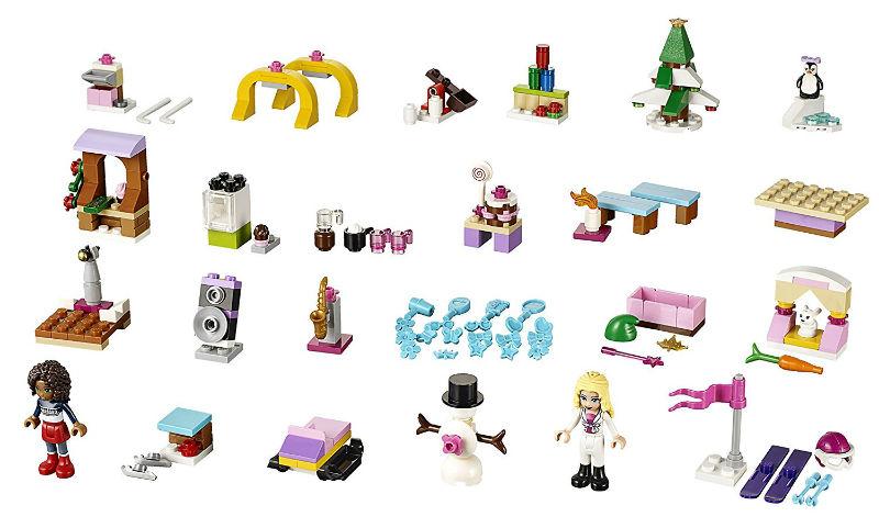 kalendarz-adwentowy lego friends 41102 zawartosc