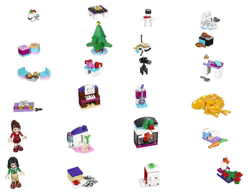 kalendarz-adwentowy-lego-friends-41131-zawartosc
