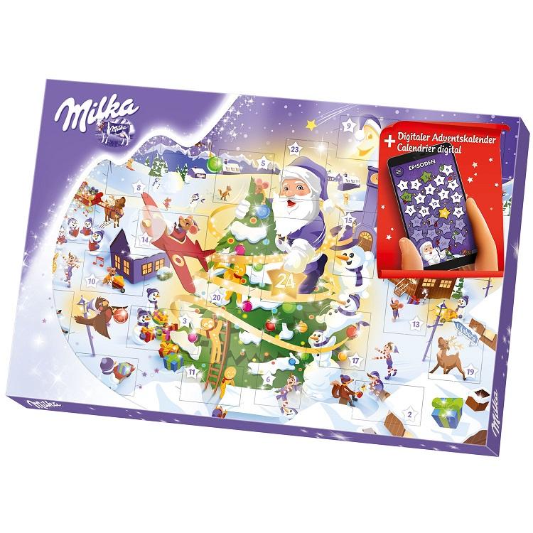kalendarz z czekoladkami milka