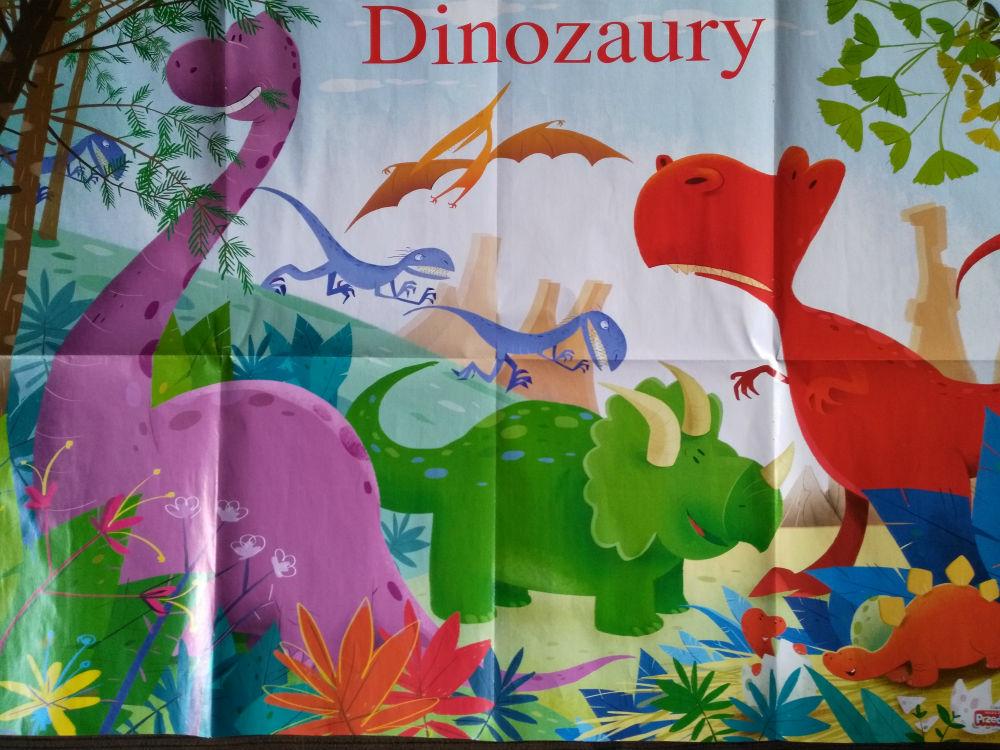 dinozaury plakat nauczycielka przedszkola