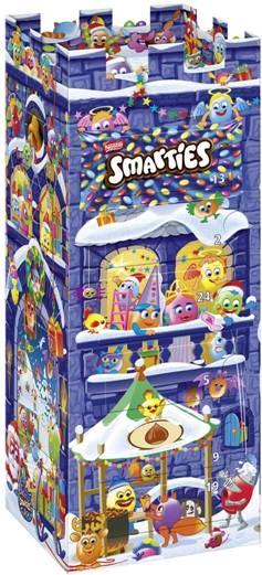 kalendarz ze słodyczami zamek smarties