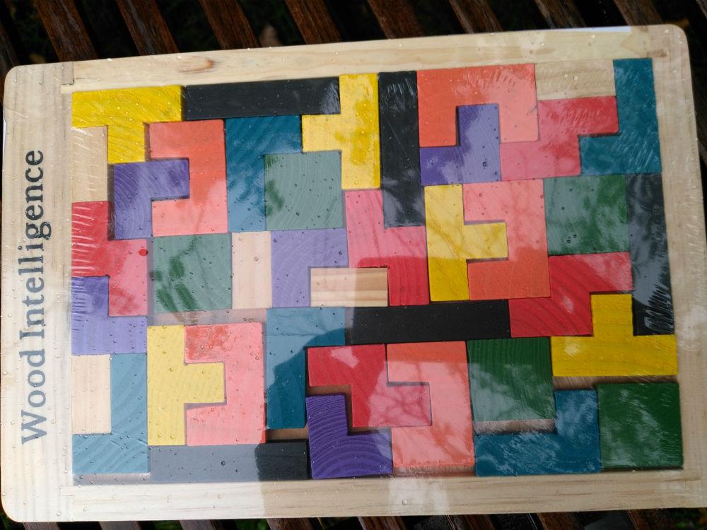 drewniany tetris z aliexpress