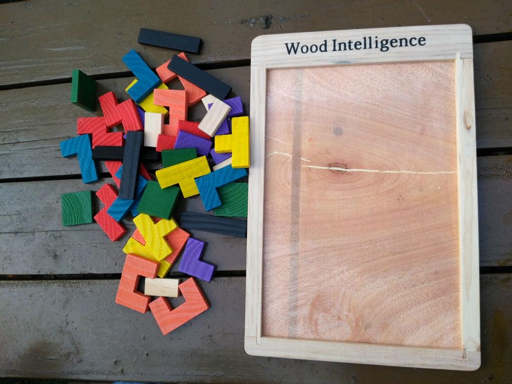 drewniany tetris