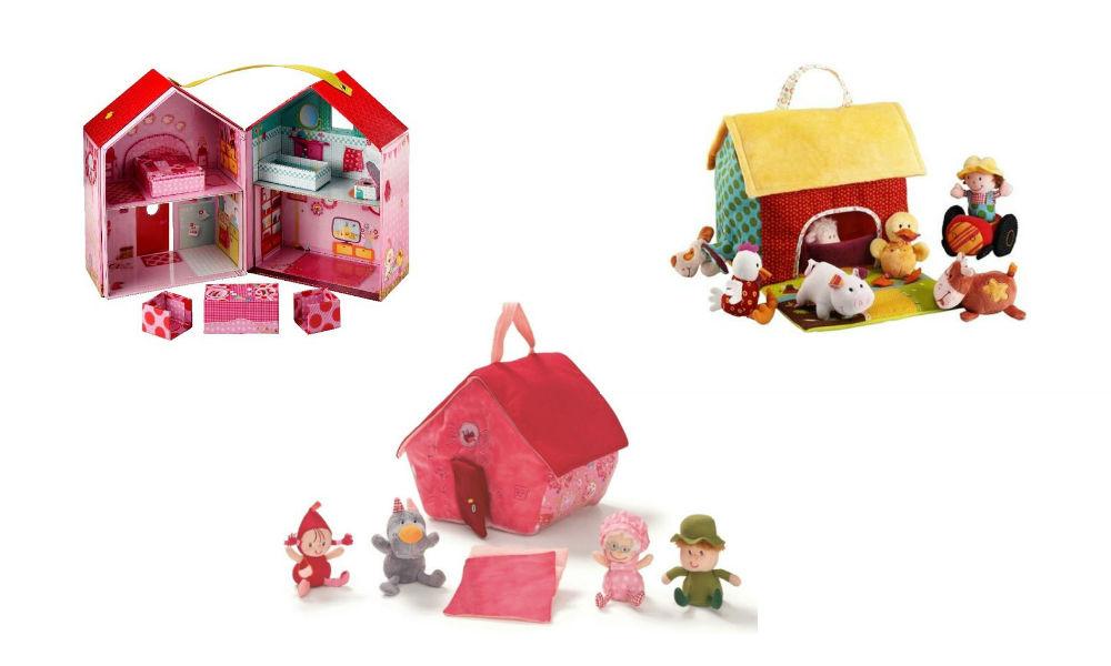 domki dla lalek z uchwytem