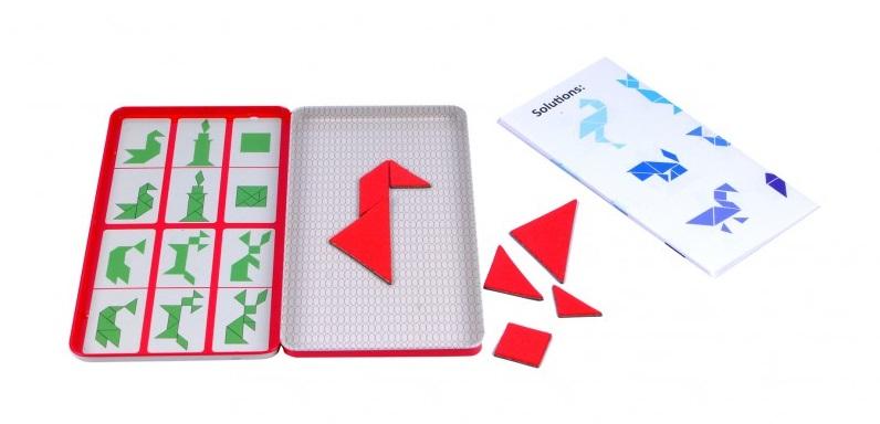magnetyczna podróżna układanka tangram