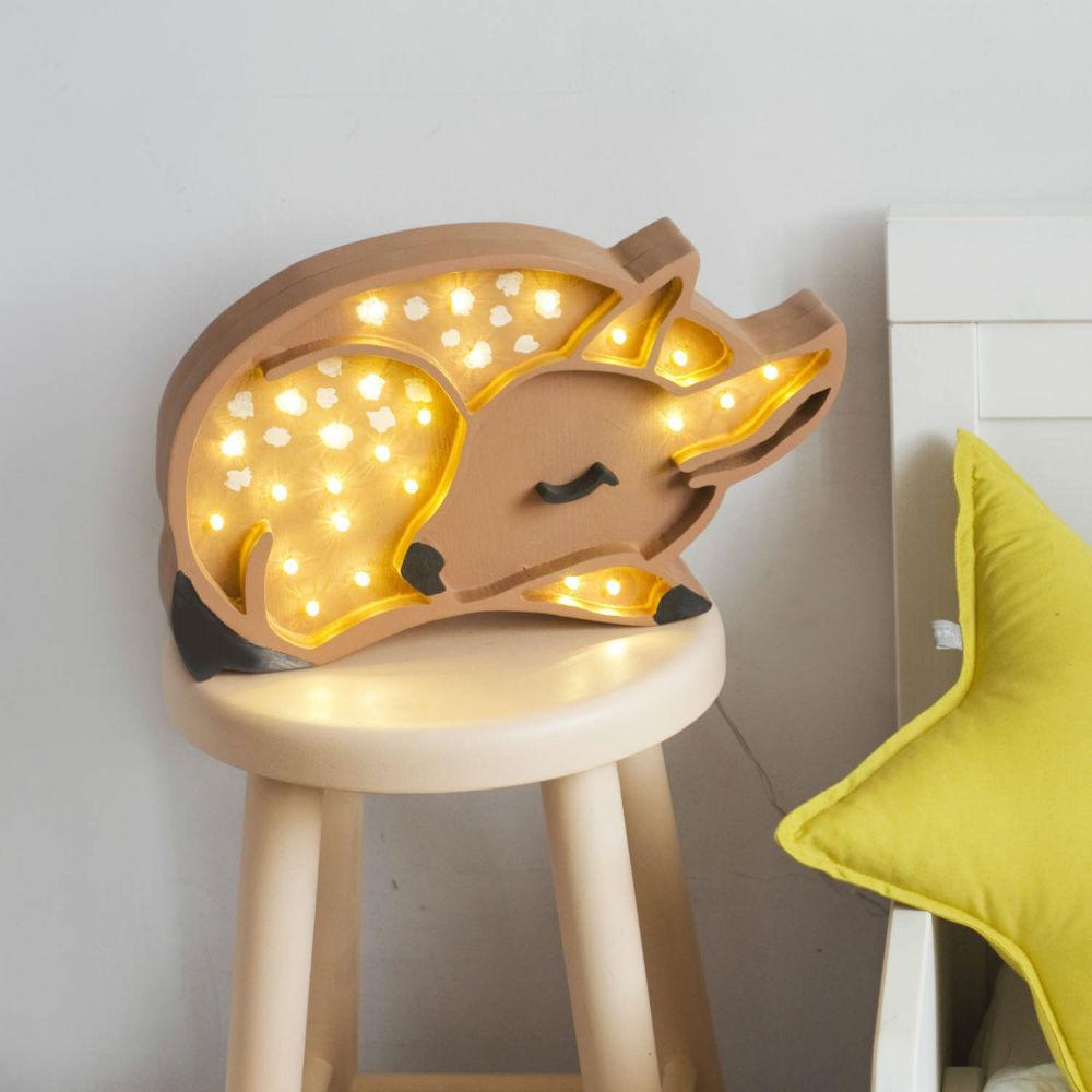 lampka jelonek drewno