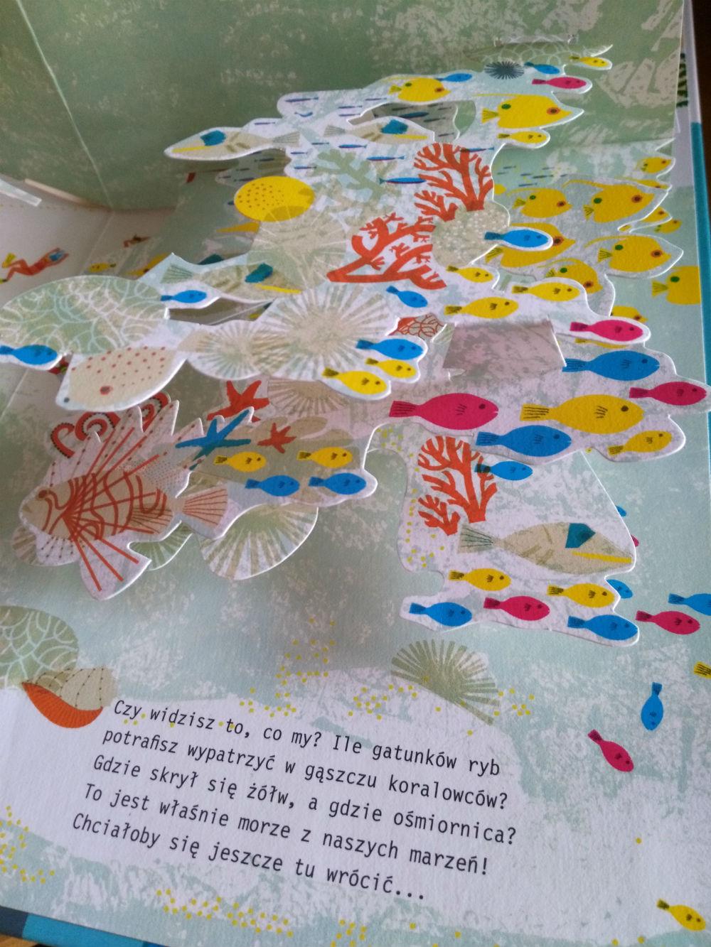 W głębinach oceanu przestrzenna książka dla przedszkolaka