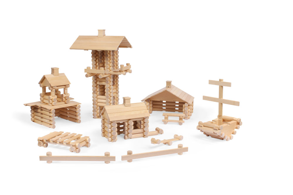 drewniane klocki architekt