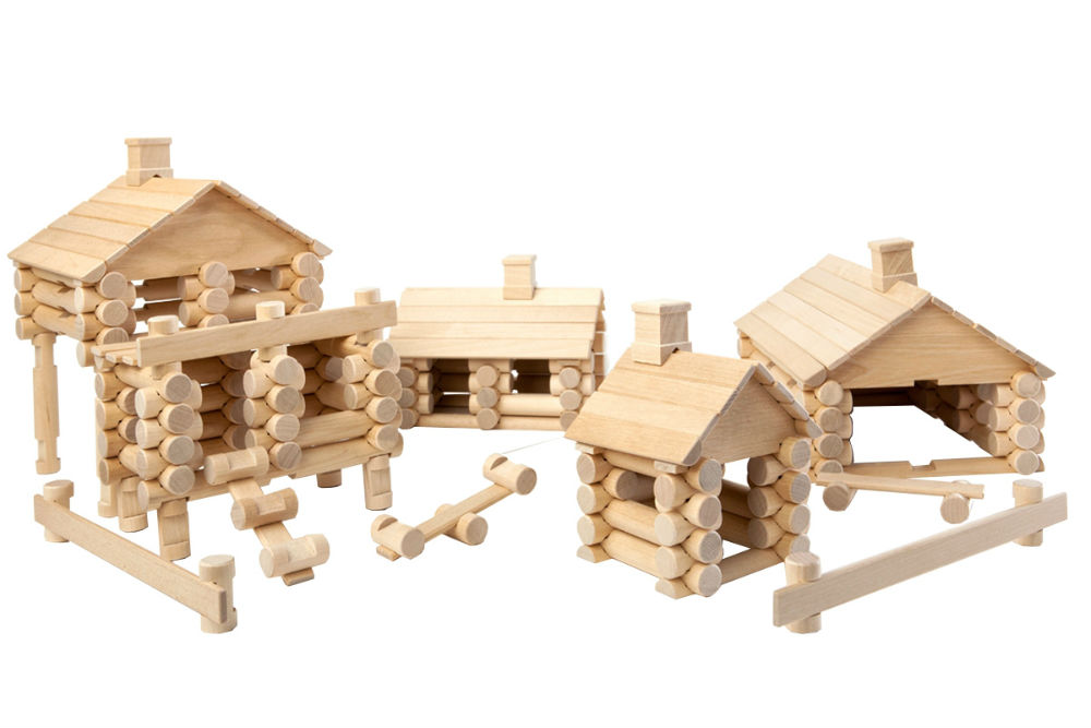 drewniane klocki domy varis